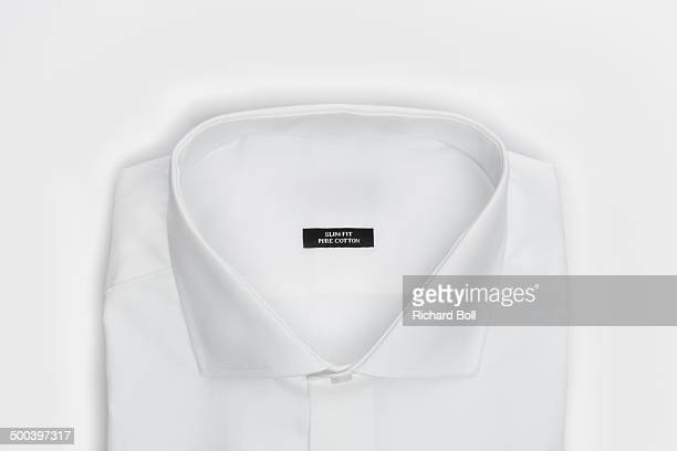 A white shirt on a white background