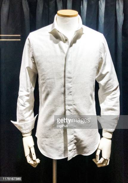 white shirt on mannequin - white shirt stock pictures, royalty-free photos & images