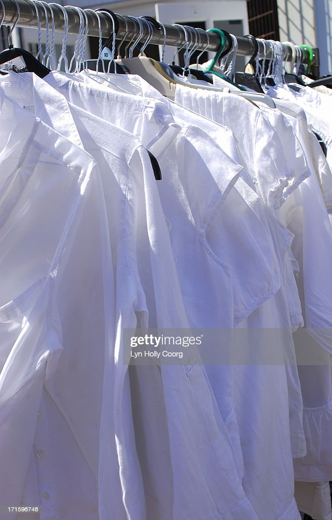 White shirts for sale : Stock Photo