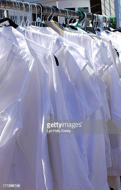 white shirts for sale - lyn holly coorg photos et images de collection