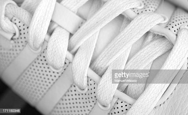 white shoelaces - sports shoe stock pictures, royalty-free photos & images