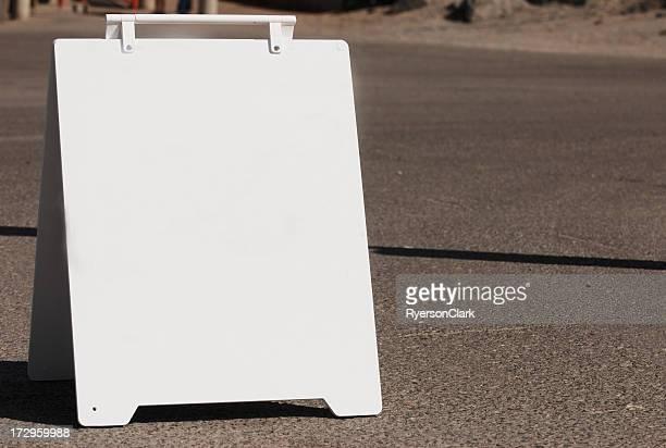 White Sign Board