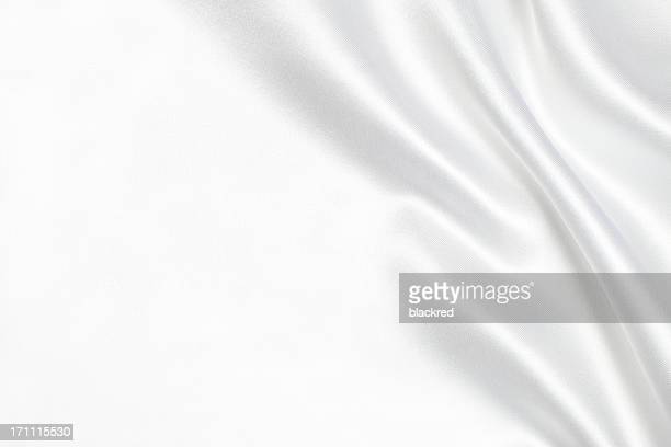white silk fabric background - white satin stock photos and pictures