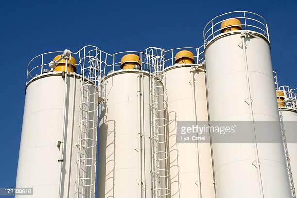 White silo's in industrial area # 1