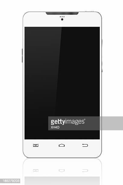 白のスマートフォン
