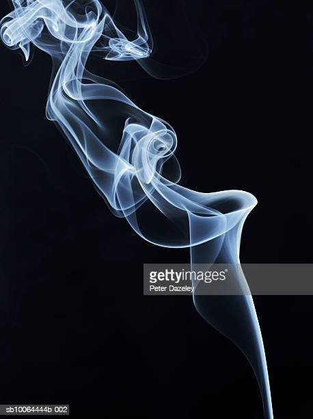 white smoke on black background - cigarette stock pictures, royalty-free photos & images