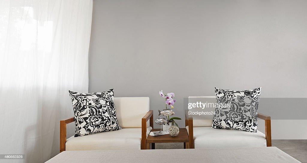 Assento do sofá branco : Foto de stock