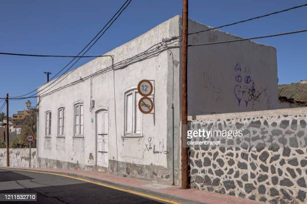 white spanish house in sunlight - atlantic islands stock pictures, royalty-free photos & images