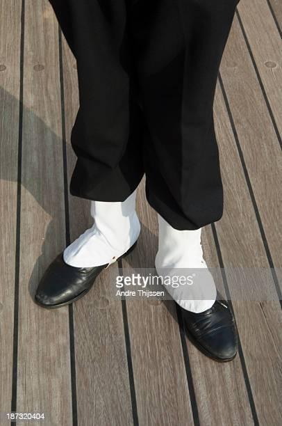 white spats on shoes - ゲートル ストックフォトと画像