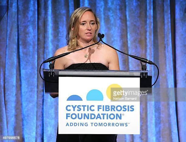 White speaks on stage at the Cystic Fibrosis Foundation's 60th Anniversary Gala on November 19 2015 in New York City