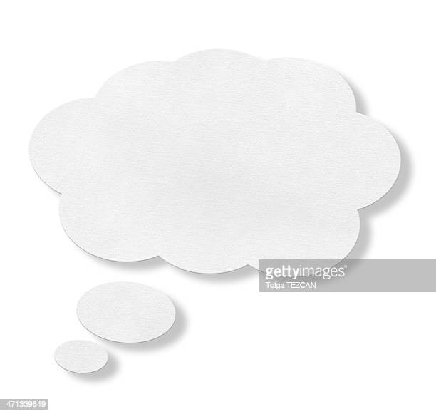 White speech bubble against white background