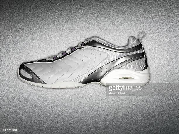 A white sports shoe