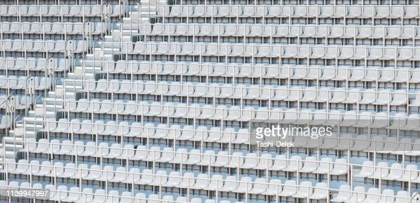 white stadium seating - sports venue stock pictures, royalty-free photos & images