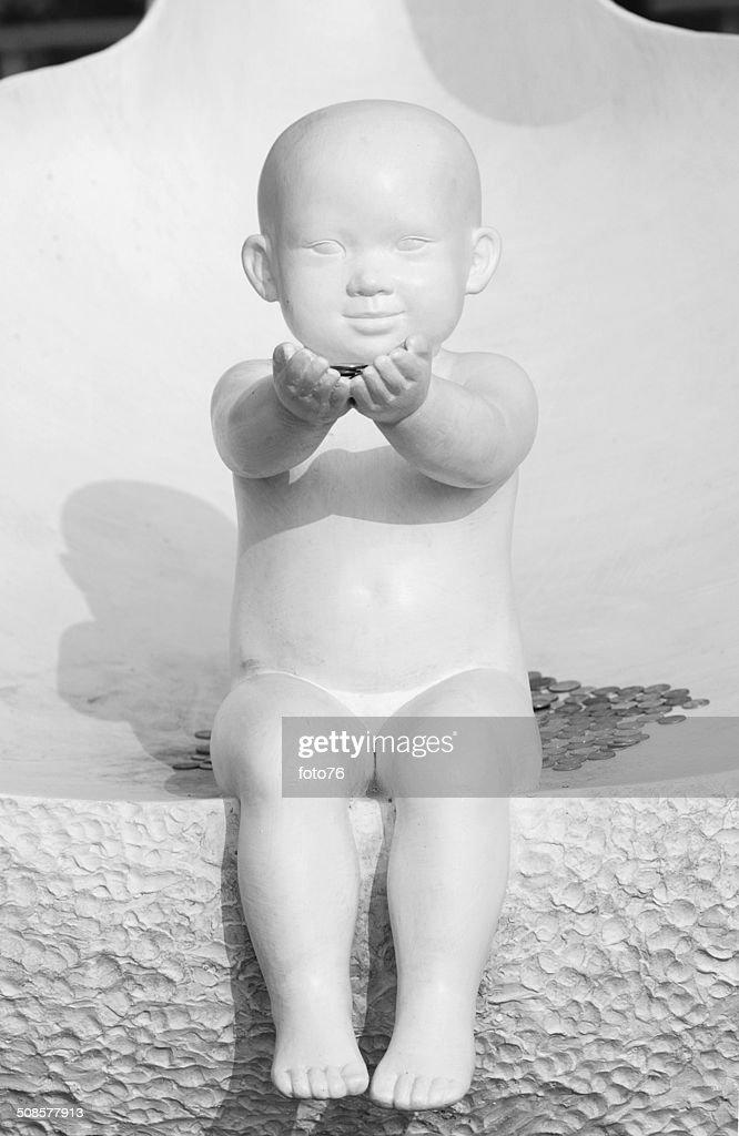 ホワイトの像の赤ちゃん : ストックフォト