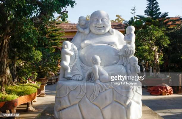 White Stone happy buddha