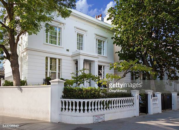 White Stucco Villa in Notting Hill, London, England.