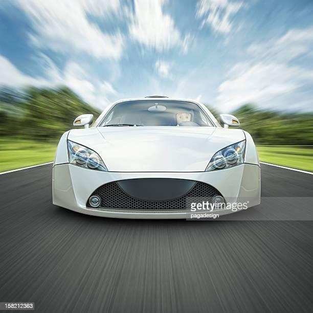 white supercar