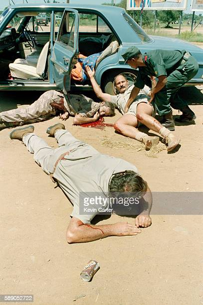 White supremacist Afrikaner Weerstandsbeweging invading the territory of Bophuthatswana to try to restore the apartheid status quo Three wounded...