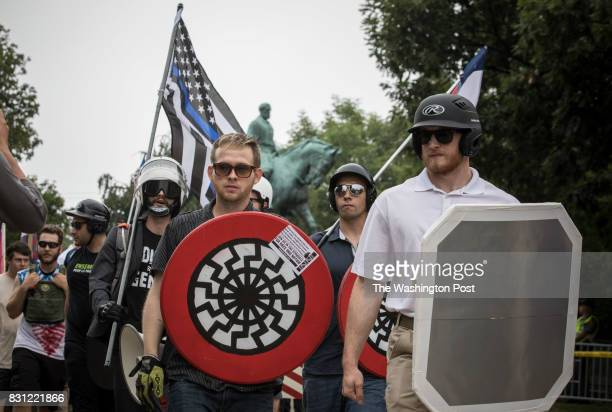 White supremacist groups rally in Emancipation Park during the Unite the Right Rally August 12 2017