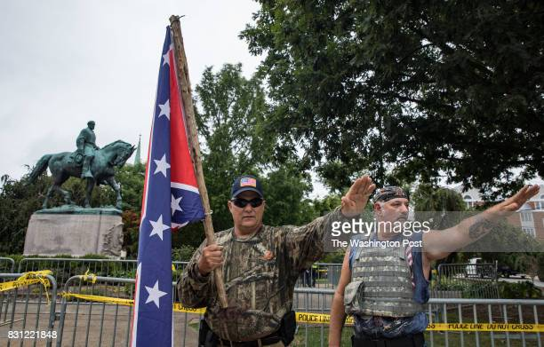 White supremacists in Emancipation Park prior to the Unite the Right rally in CharlottesvilleVirginia August 12 2017