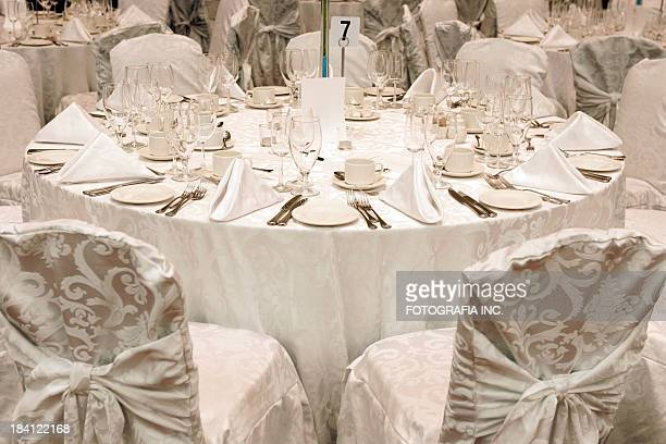 White table set up