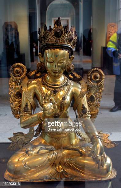 White Tara Nepal Gilded copper White Tara is one of the most revered enlightened goddesses in Tibet She is shown here with her usual symbols two open...