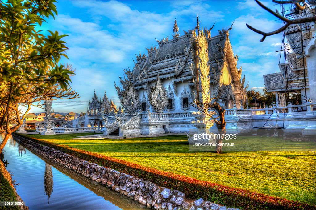 White Temple, Wat Rong Khun in Chiang Rai, Thailand : Stock Photo