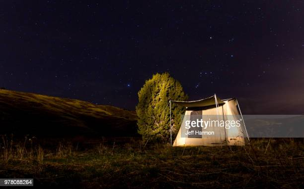 white tent under night sky, herriman, utah, usa - herriman stock pictures, royalty-free photos & images