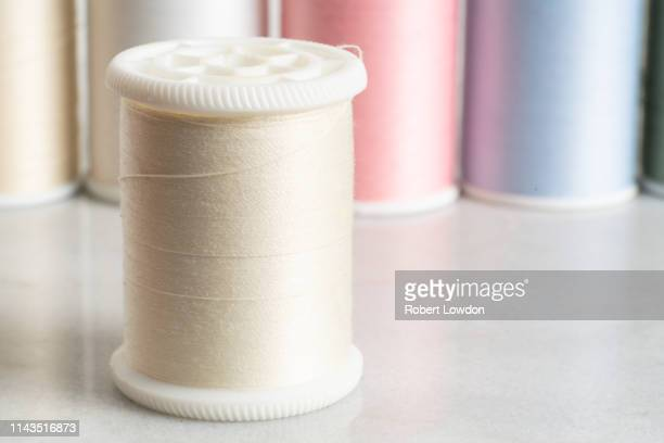white thread - sewing stock pictures, royalty-free photos & images