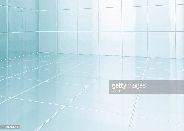 white tiles in bathroom - bathroom stock photos and pictures