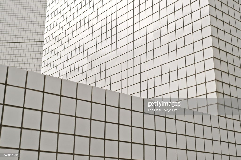 White tiles in Tokyo : Stock Photo