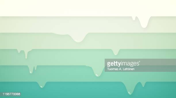 white to green color gradient, horizontally layered stripes dripping. digital abstract background in 4k resolution. - white stripes stock pictures, royalty-free photos & images