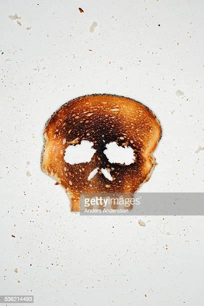 White toast shaped as skull