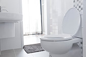 White toilet in home