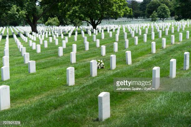 White Tombstones At Arlington National Cemetery
