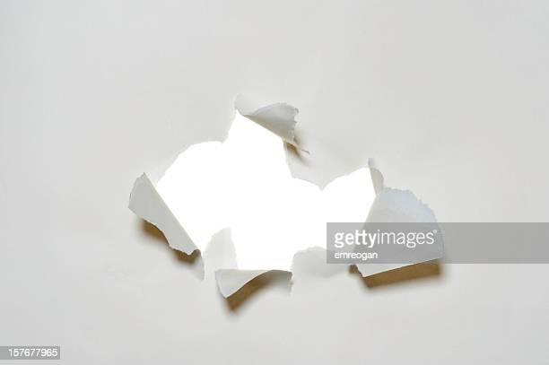 Weiße zerrissenes Papier