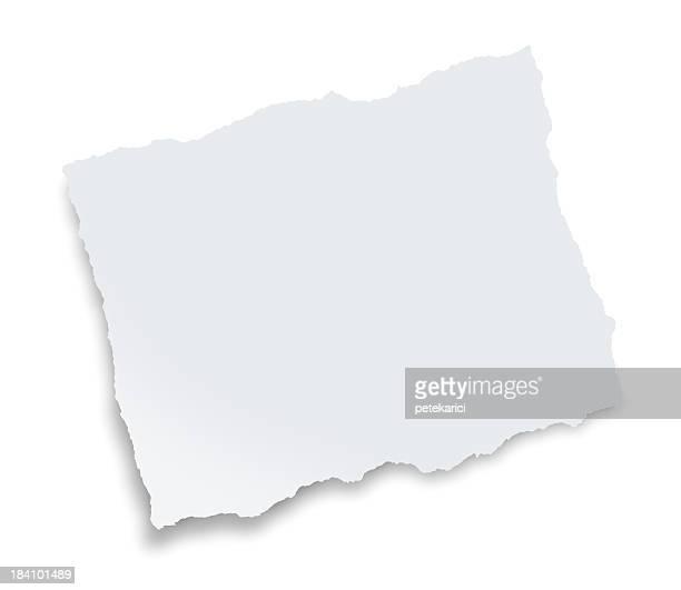 Blanc papier Déchiré