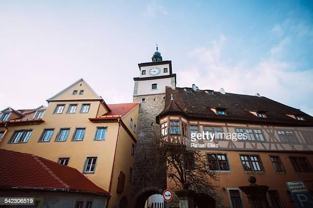 White tower in Rothenburg ob der Tauber