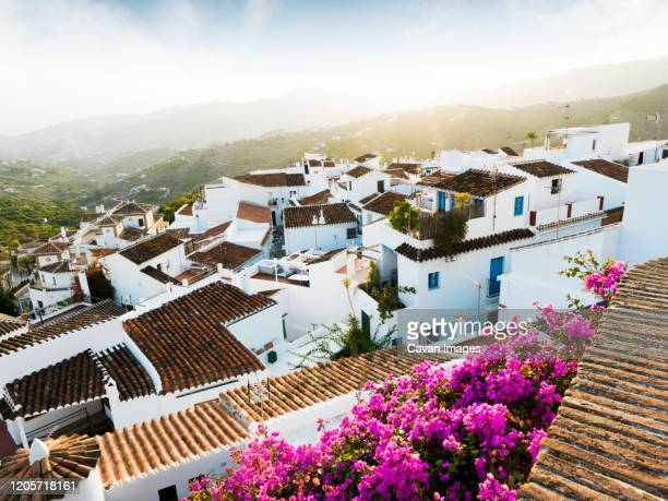 white town of frigiliana in malaga, spain - andalucia stock pictures, royalty-free photos & images