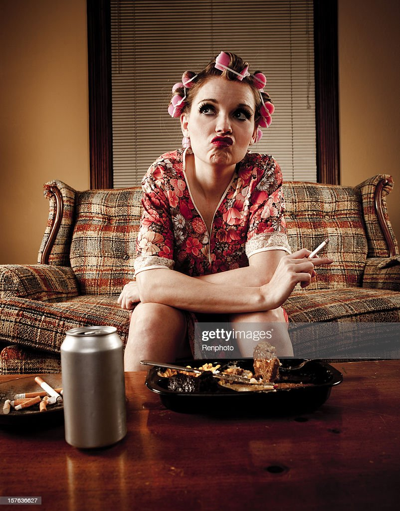 White Trash Series: Pondering a Better Life : Stock Photo