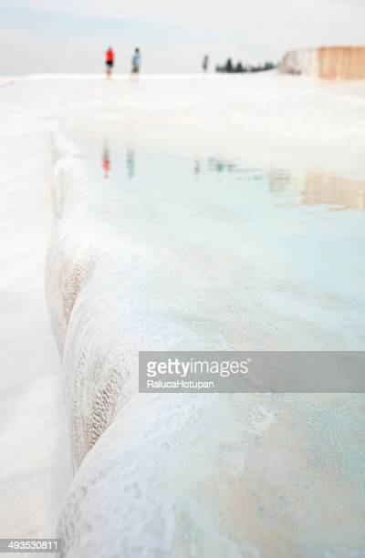 White travertine terrace at Pamukkale