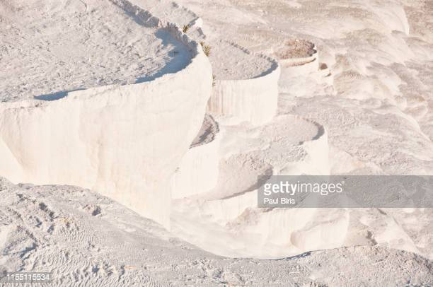 white travertine terraces , pamukkale , turkey - chalk rock stock pictures, royalty-free photos & images