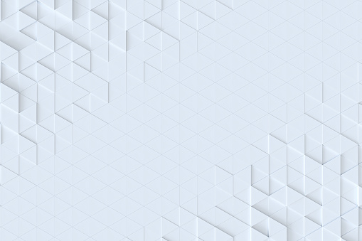 White triangle tiles seamless pattern, 3d rendering background. 927104724