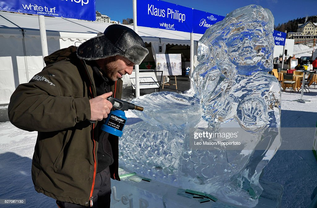 White Turf Snow Horse Racing St Moritz Switzerland Ice Sculpture News Photo Getty Images