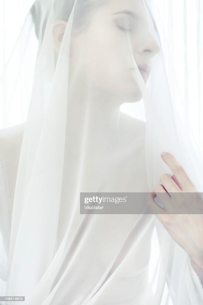 white veil : Stock Photo