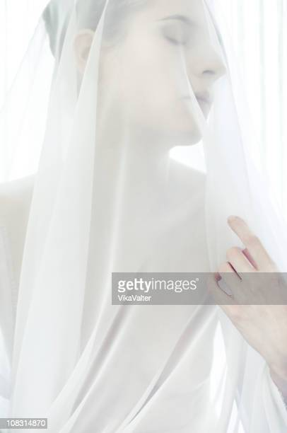 white veil - veil stock photos and pictures