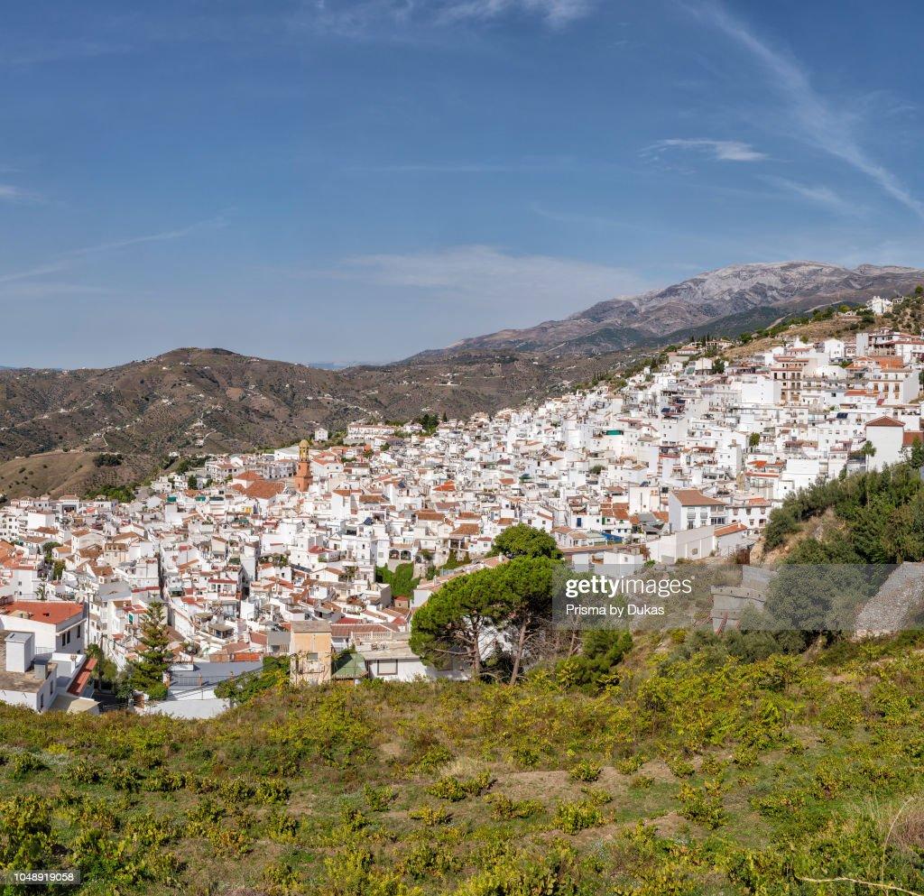 A white village in the Tejeda and Almijara mountains : News Photo