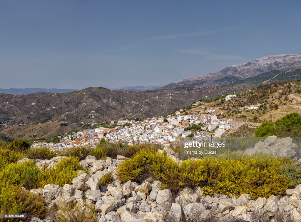 A white village in the Tejeda and Almijara mountains : ニュース写真