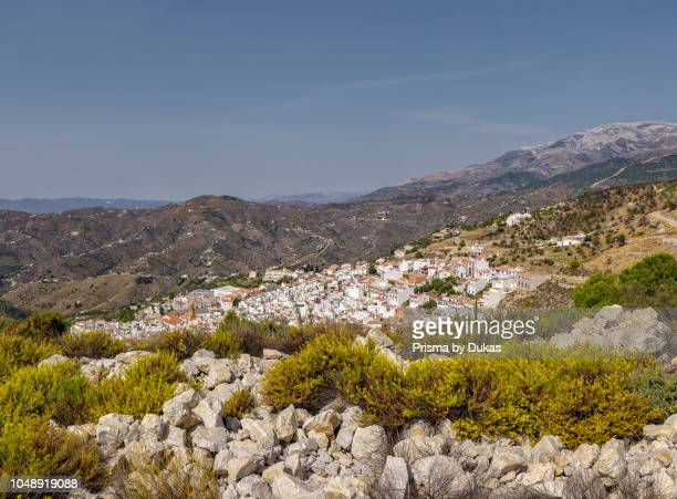 A white village in the Tejeda and Almijara mountains