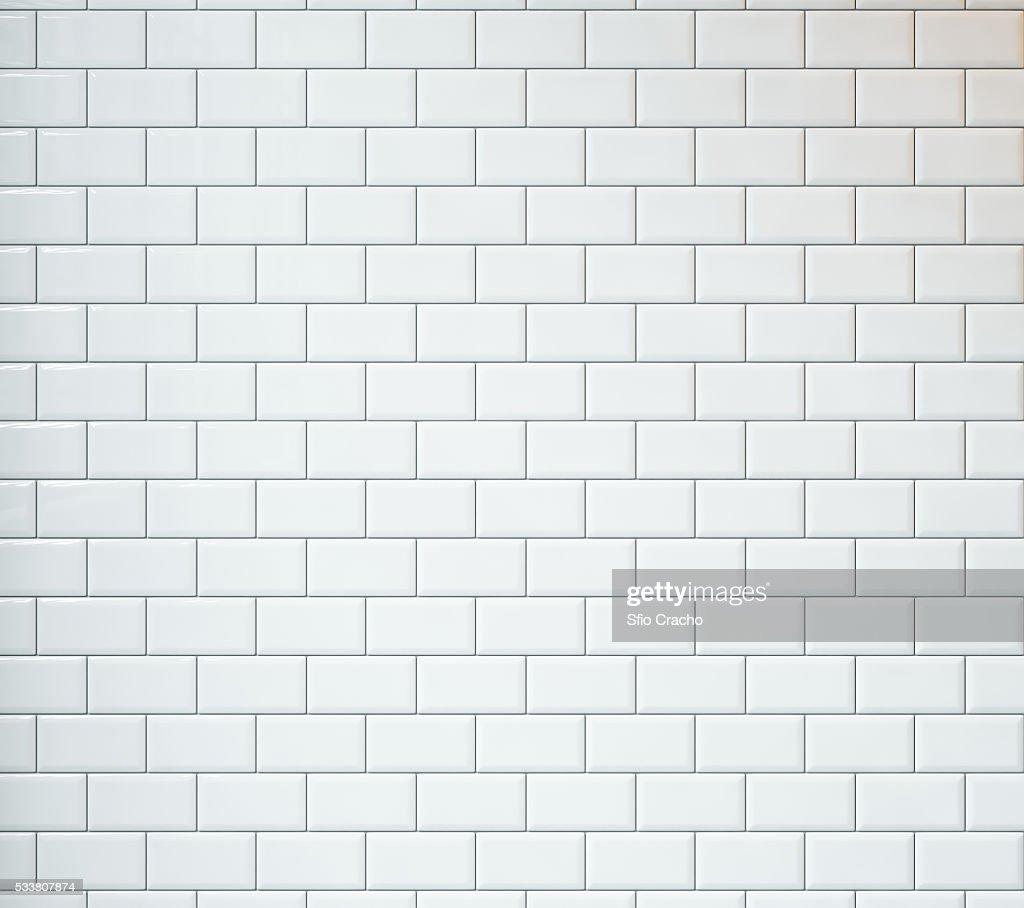 White vintage tiles background : Foto stock